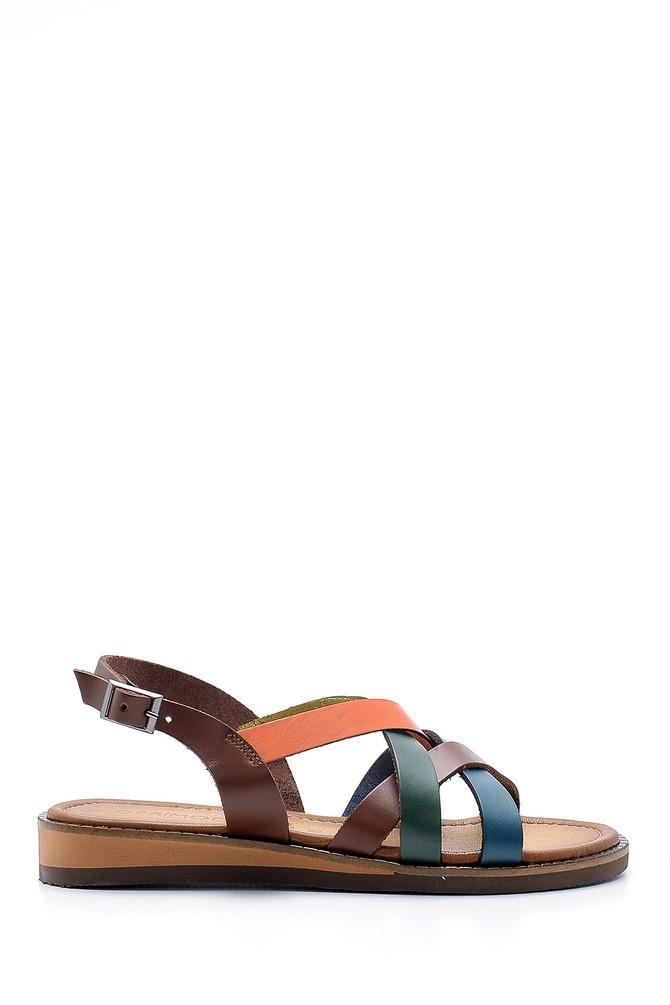Multi Renk Kadın Deri Sandalet 5638167965
