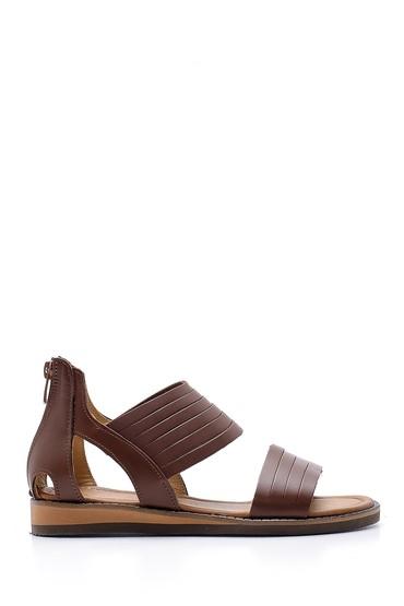 Kahverengi Kadın Deri Sandalet 5638167976