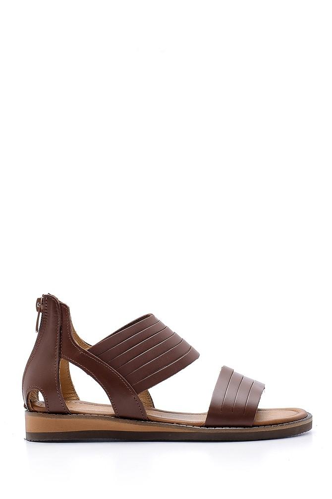 Kahverengi Kadın Deri Sandalet 5638167983