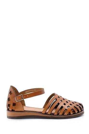 Kahverengi Kadın Deri Sandalet 5638168042
