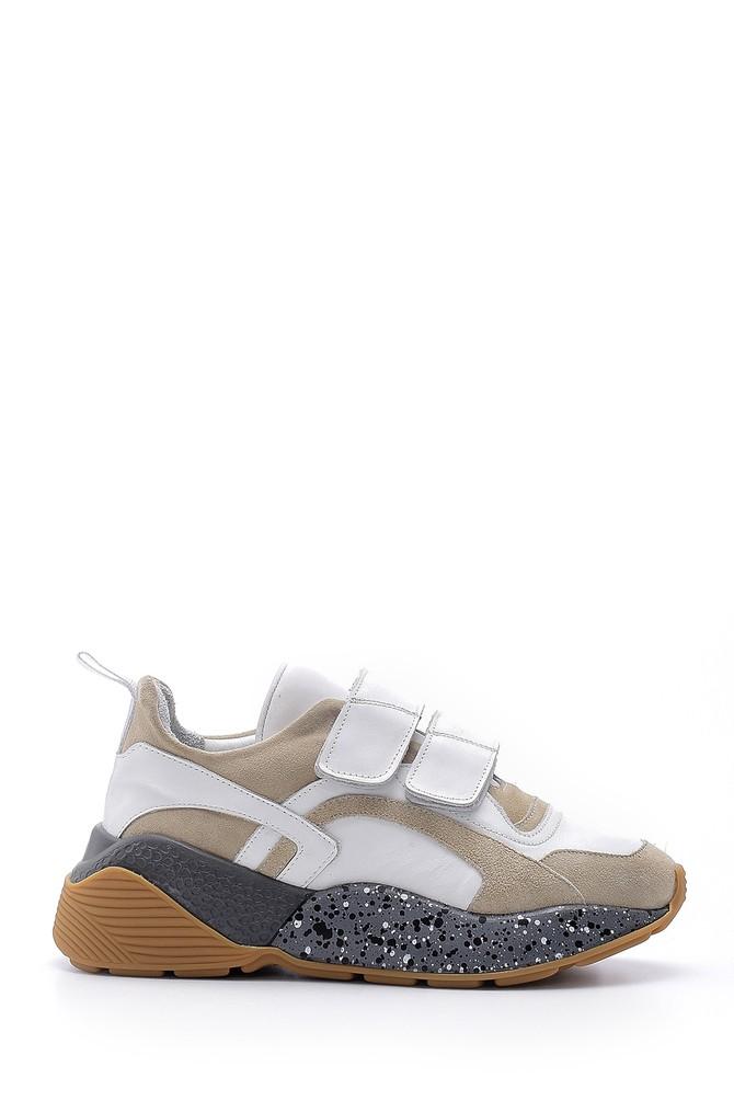 Beyaz Kadın Yüksek Taban Sneaker 5638159441