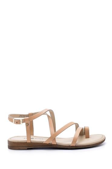 Bej Kadın Deri Sandalet 5638161572