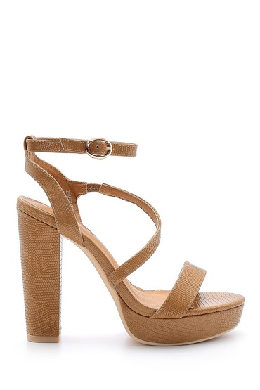 Bej Kadın Topuklu Ayakkabı 5638136060