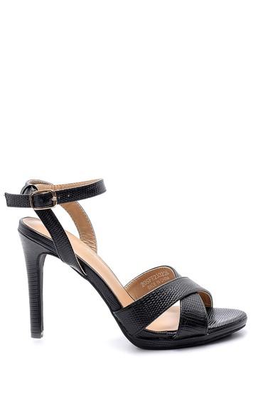 Siyah Kadın Topuklu Sandalet 5638136460