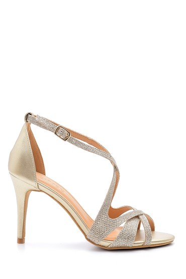 Sarı Kadın Topuklu Ayakkabı 5638136479