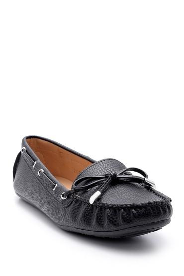 Siyah Kadın Fiyonk Detaylı Loafer 5638121301