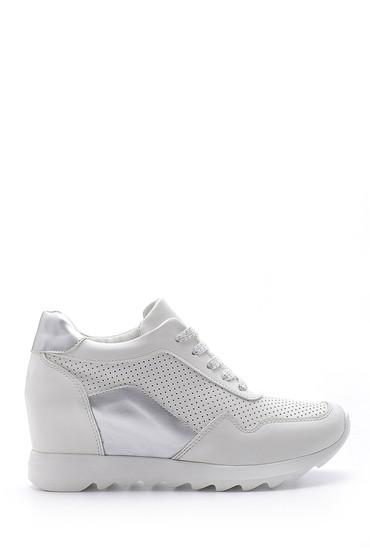 Beyaz Kadın Dolgu Topuk Sneaker 5638170785