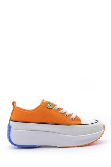 Turuncu Kadın Yüksek Tabanlı Sneaker 5638180574