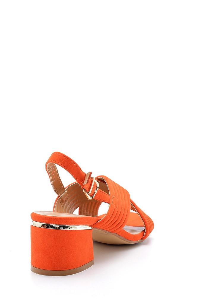 5638126266 Kadın Süet Topuklu Sandalet