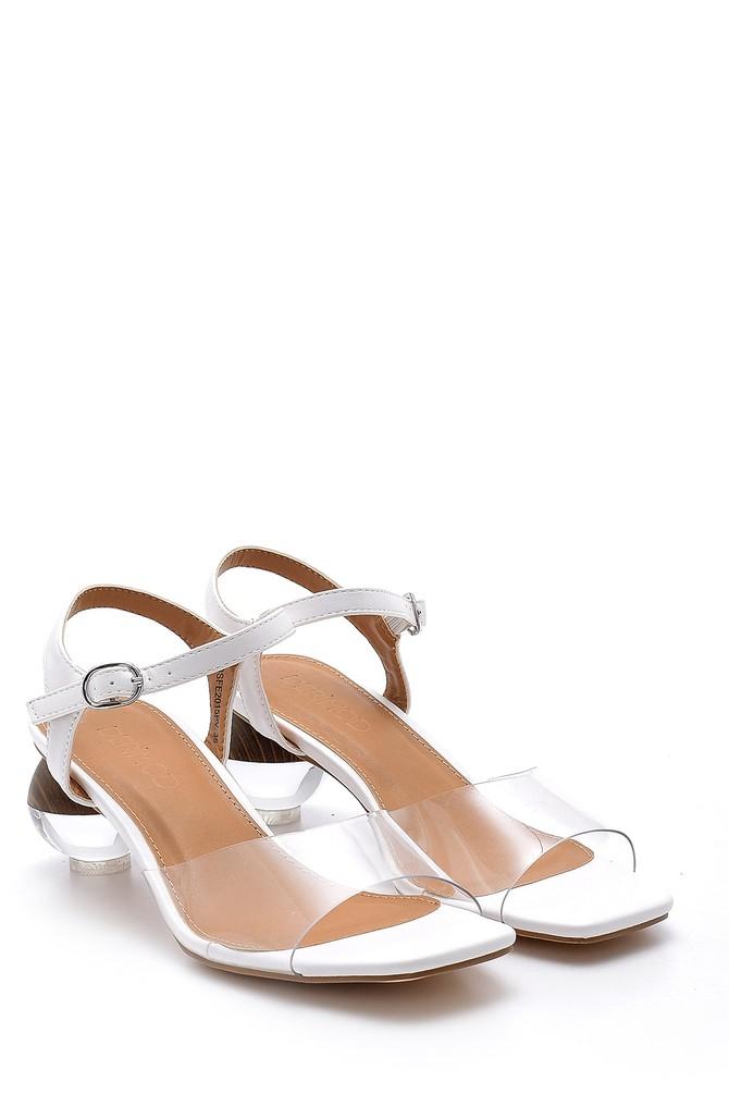 5638128647 Kadın Topuk Detaylı Sandalet