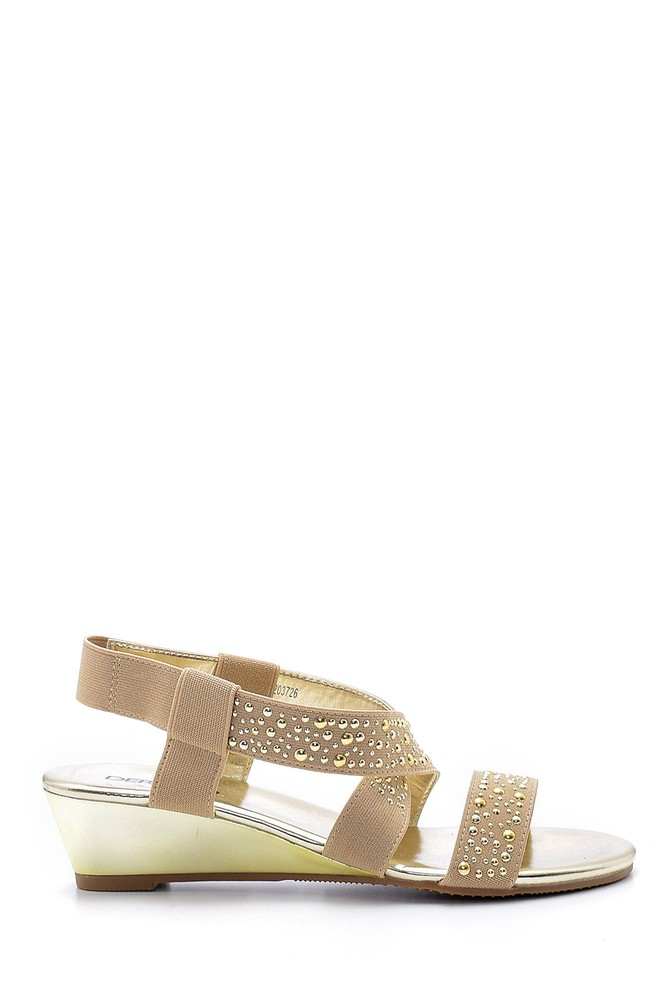 Sarı Kadın Sandalet 5638129821