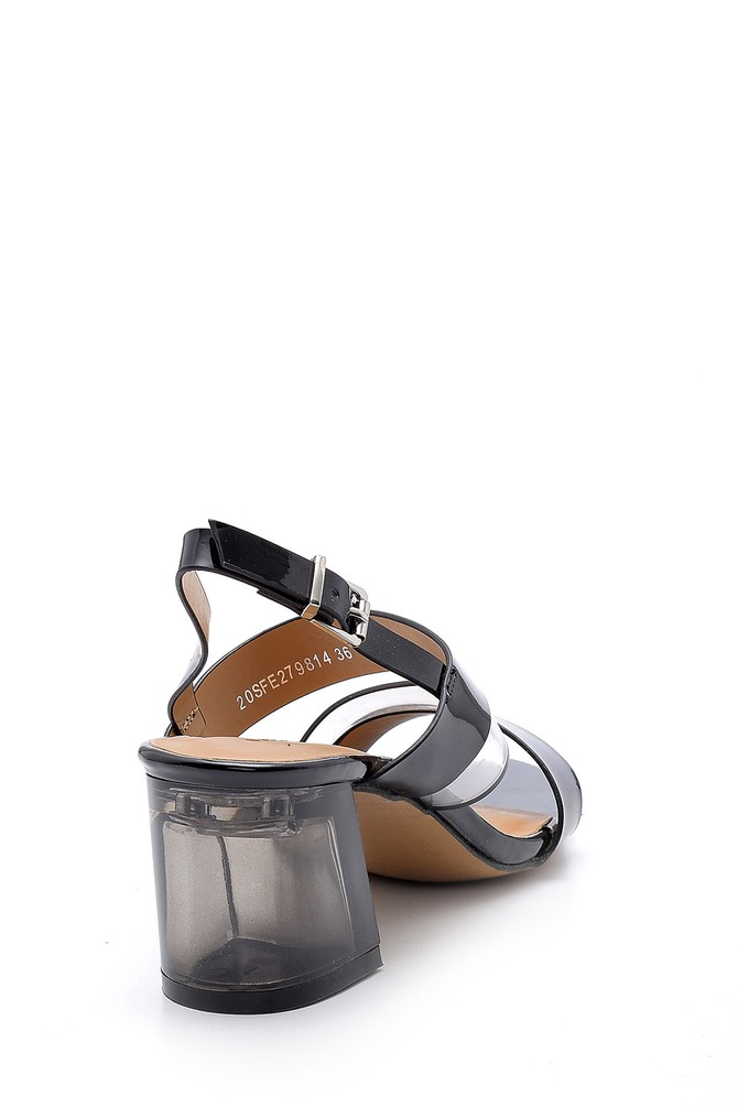 5638132899 Kadın Şeffaf Topuklu Sandalet