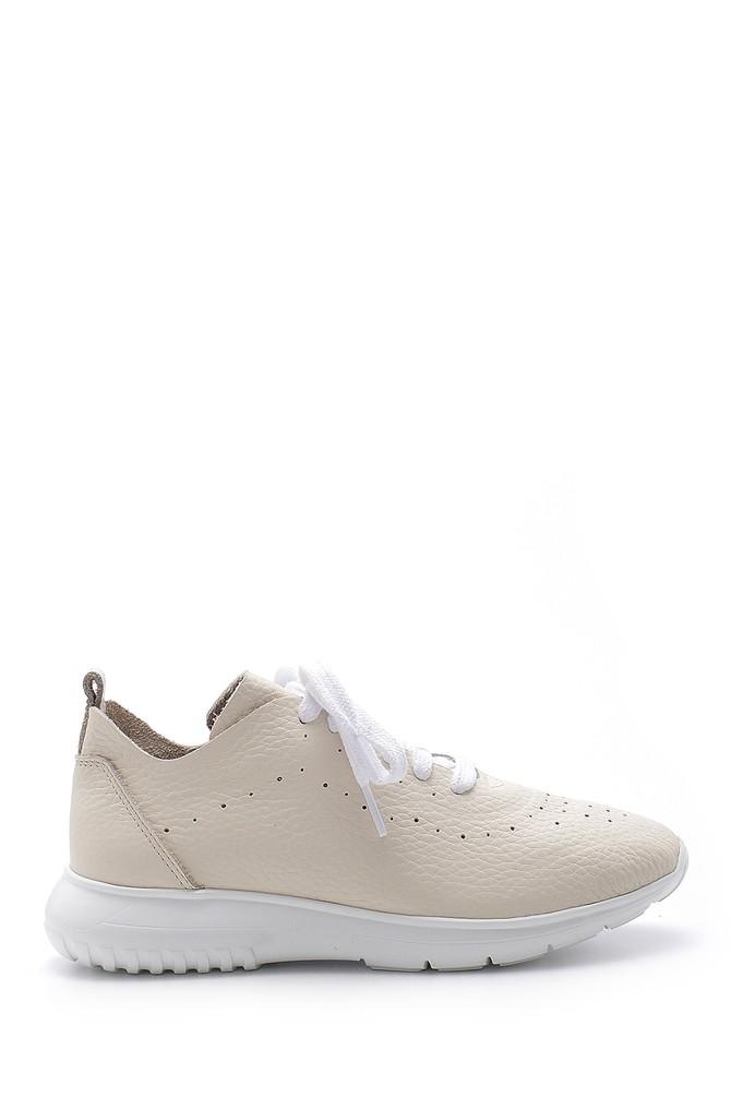 Beyaz Kadın Deri Casual Ayakkabı 5638185607