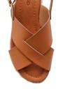 5638126249 Kadın Hasır Detaylı Sandalet
