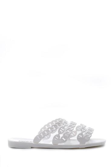Beyaz Kadın Plastik Terlik 5638127600