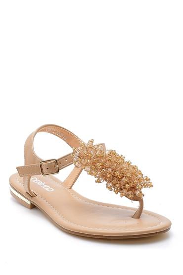 Bej Kadın Sandalet 5638127782