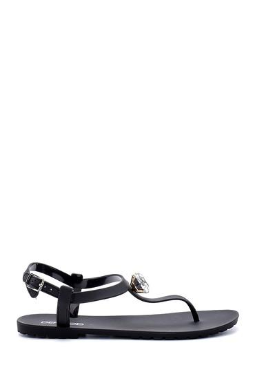 Siyah Kadın Plastik Sandalet 5638128628