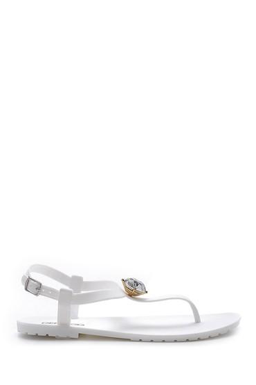 Beyaz Kadın Plastik Sandalet 5638128629