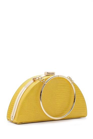 Sarı Kadın Kroko Detaylı Kol Çantası 5638158197