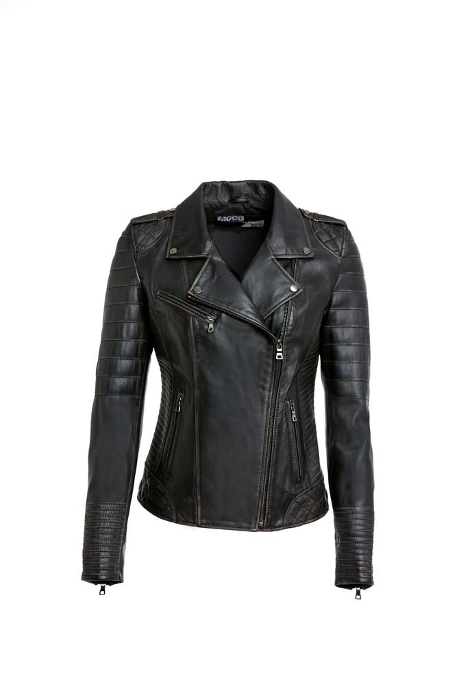 Siyah Carmina - X Kadın Deri Ceket 5638087500