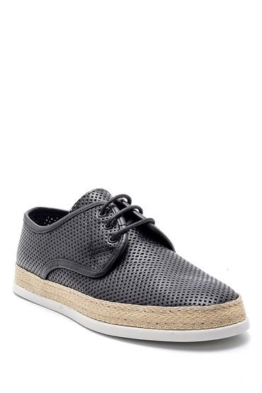 Siyah Erkek Deri Casual Ayakkabı 5638143594