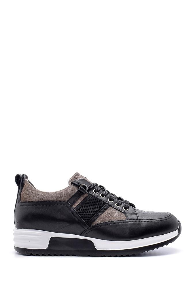 Siyah Erkek Deri Sneaker 5638143672