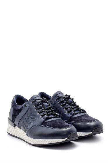 Lacivert Erkek Deri Sneaker 5638143915