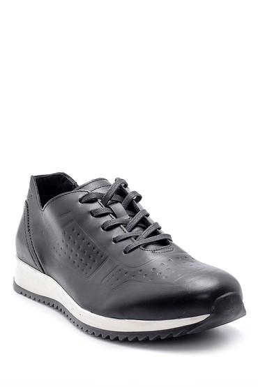 Siyah Erkek Deri Sneaker 5638144212