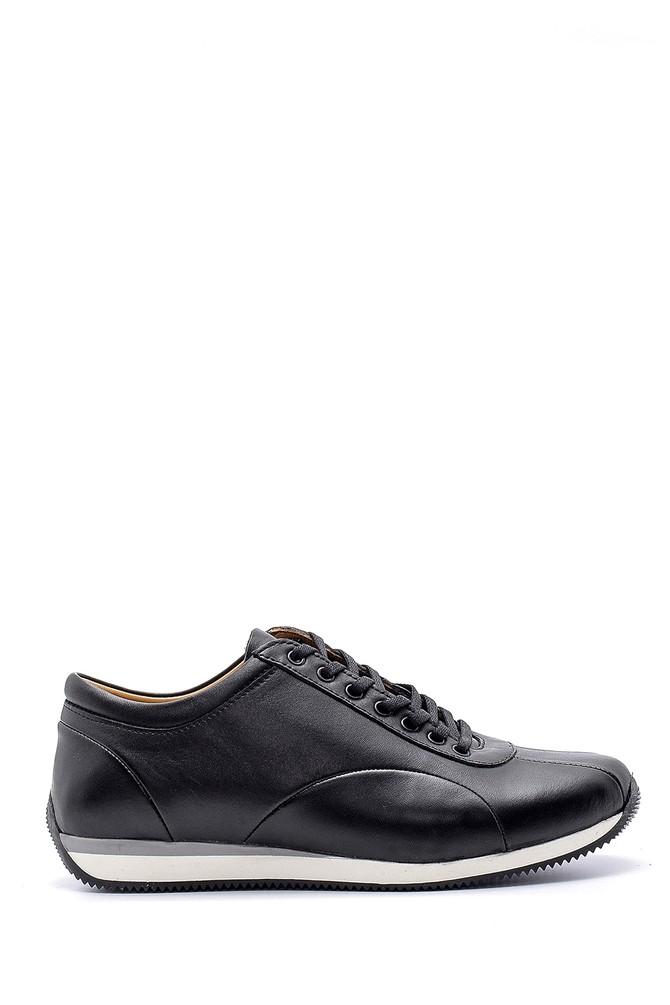 Siyah Erkek Deri Sneaker 5638147169
