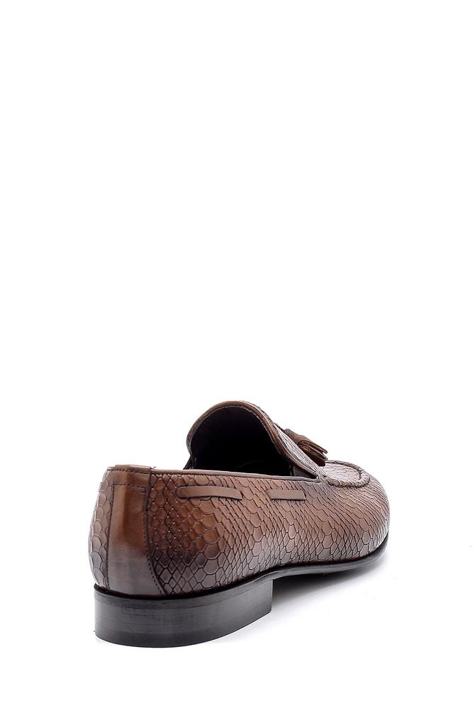 5638149695 Erkek Deri Püskül Detaylı Loafer