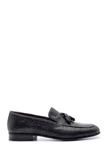 Siyah Erkek Deri Püskül Detaylı Loafer 5638149700