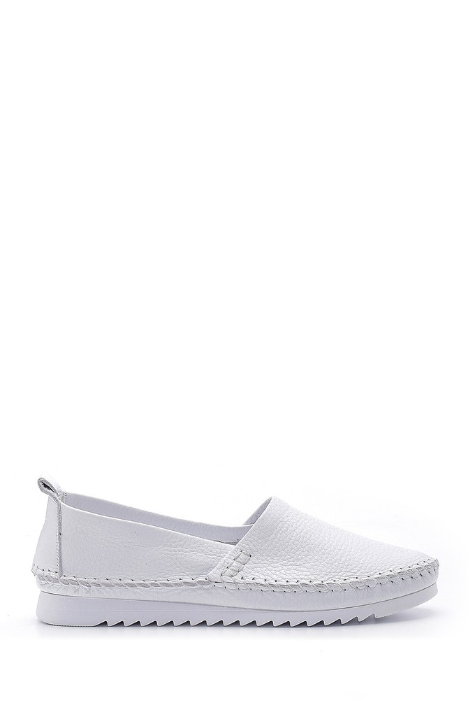 Beyaz Kadın Deri Ayakkabı 5638151769