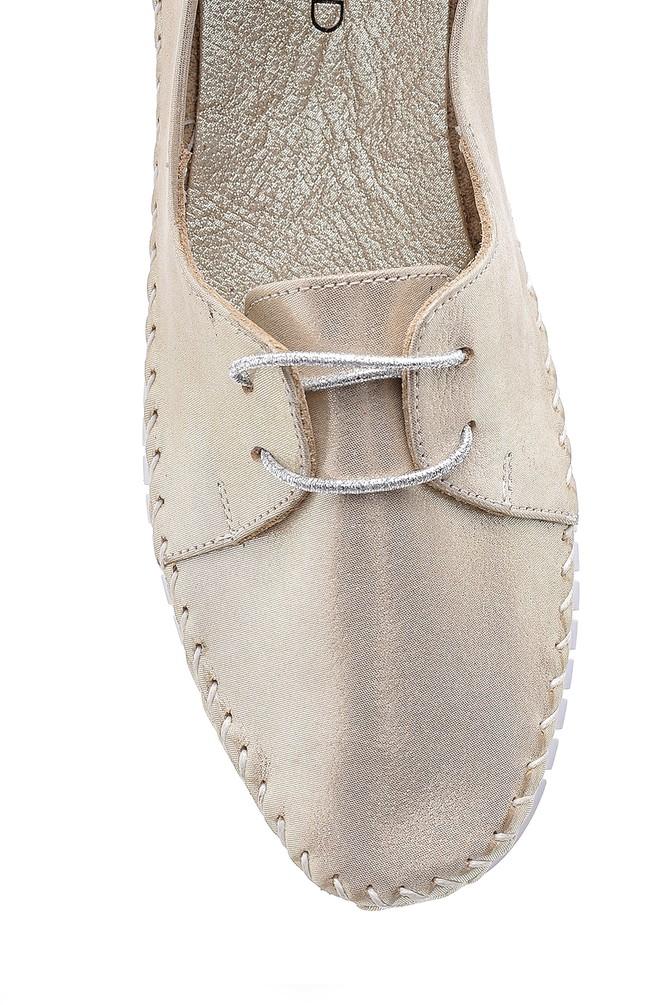 5638151838 Kadın Deri Simli Ayakkabı
