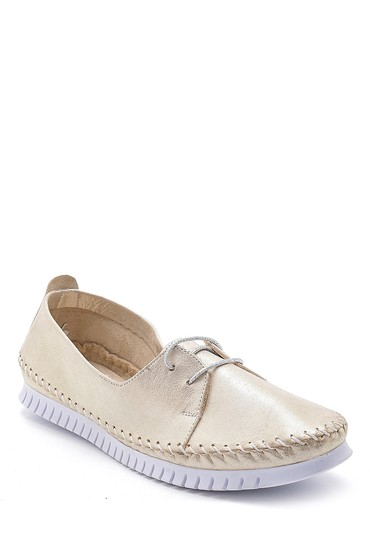 Bej Kadın Deri Simli Ayakkabı 5638151838