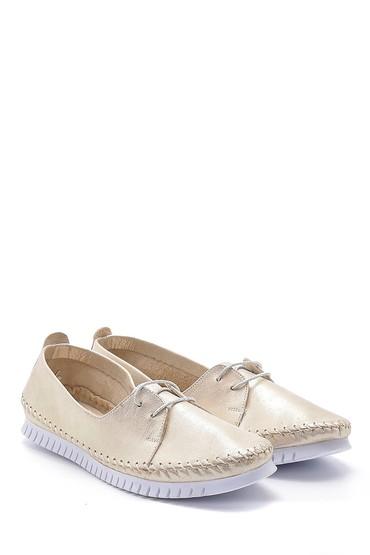 Bej Kadın Deri Simli Ayakkabı 5638151834