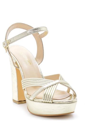Sarı Kadın Topuklu Sandalet 5638155677