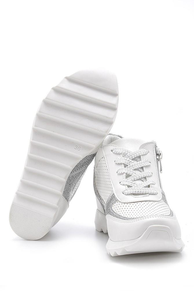 5638173589 Kadın Fermuar Detaylı Sneaker