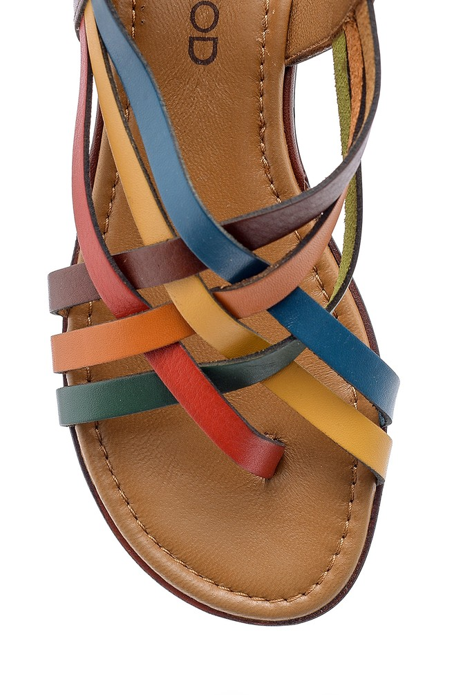 5638161534 Kadın Deri Sandalet
