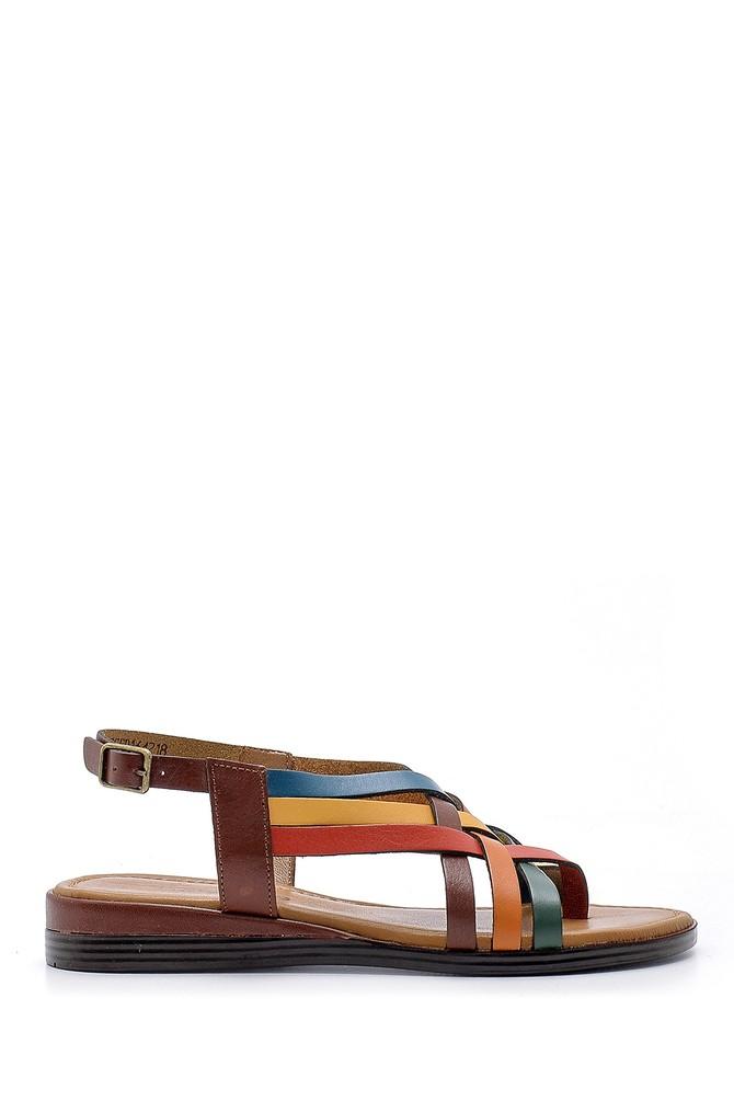 Multi Renk Kadın Deri Sandalet 5638161534