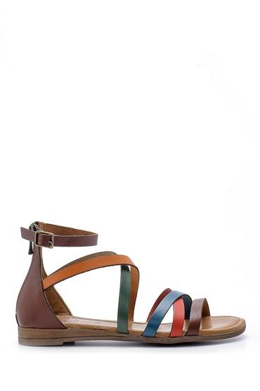 Multi Renk Kadın Deri Sandalet 5638161595