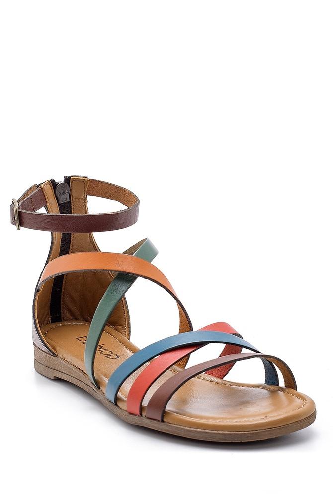 5638161602 Kadın Deri Sandalet