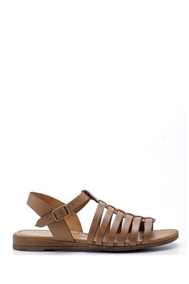 Kahverengi Kadın Deri Sandalet 5638161614