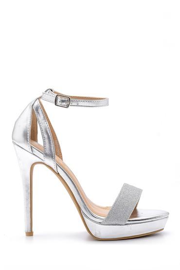 Gri Kadın Topuklu Sandalet 5638123830