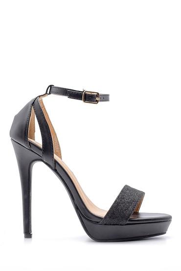 Siyah Kadın Topuklu Sandalet 5638123832