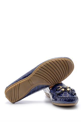 Kadın Kroko Desenli Rugan Loafer