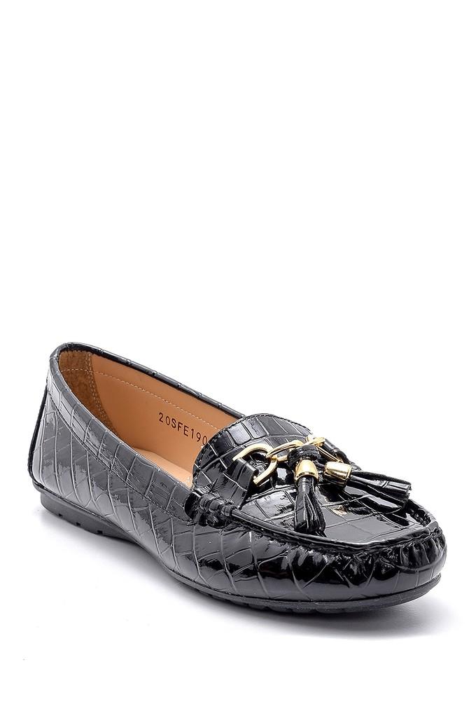 5638121381 Kadın Kroko Desenli Rugan Loafer
