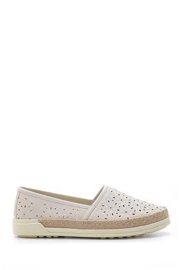 Bej Kadın Hasır Detaylı Ayakkabı 5638121470
