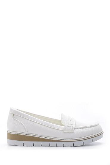 Beyaz Kadın Kalın Tabanlı Ayakkabı 5638170613