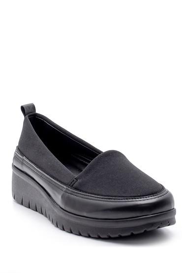 Siyah Kadın Kalın Tabanlı Ayakkabı 5638170739