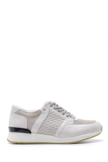Beyaz Erkek Deri Sneaker 5638143917
